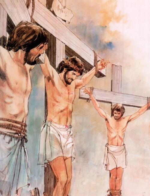 Resultado de imagen de jesus crucificado buen ladron